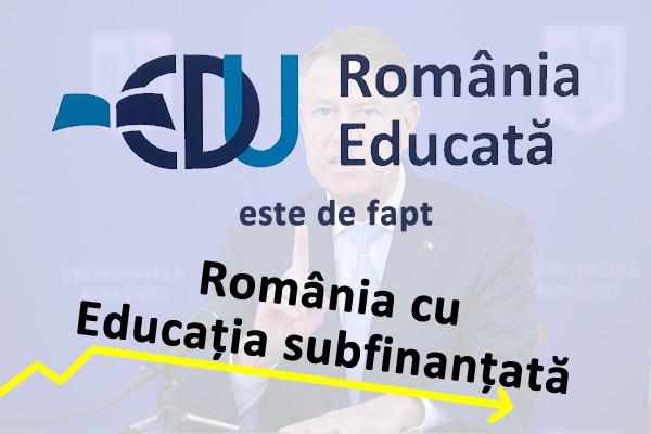 Guvernul Cîțu își bate joc de educație prin cea mai slabă finanțare din ultimii 30 de ani. Studenții fac apel la Președintele Klaus Iohannis